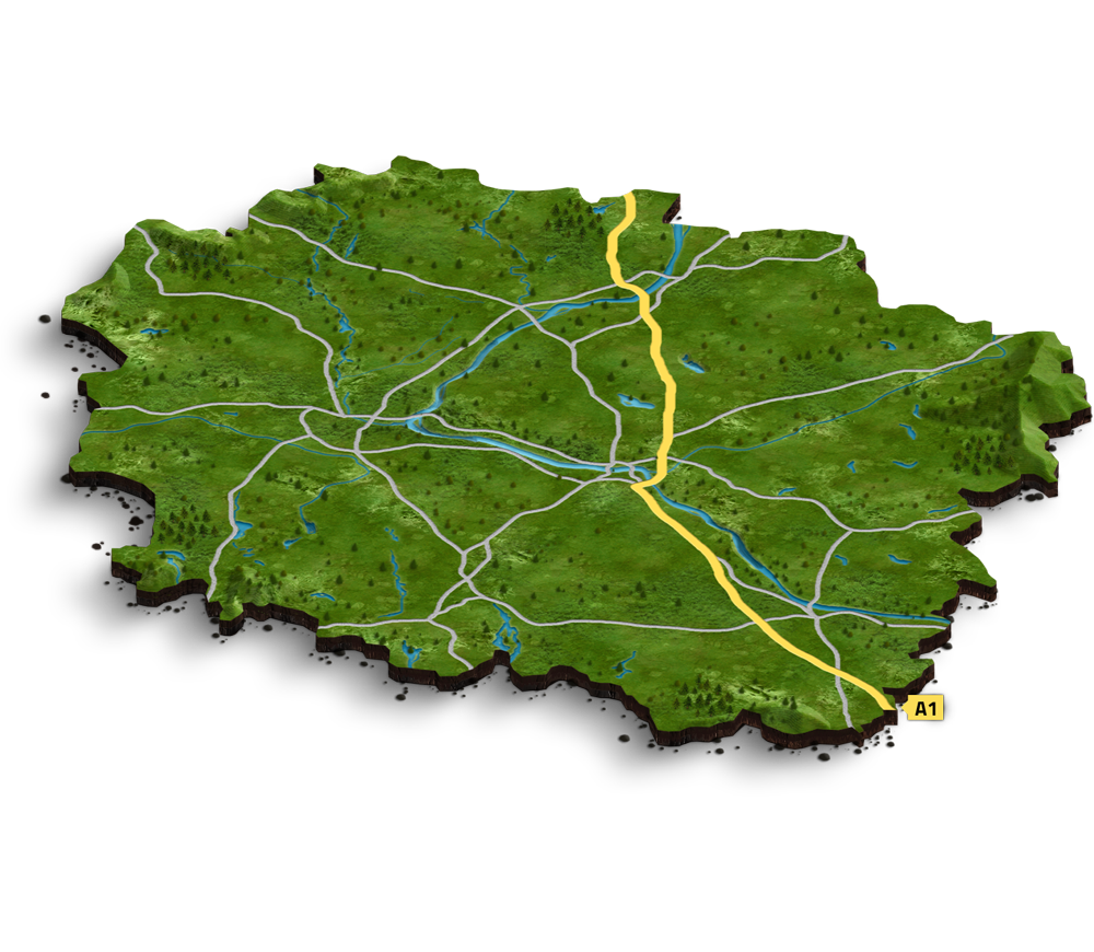 Map with our investments