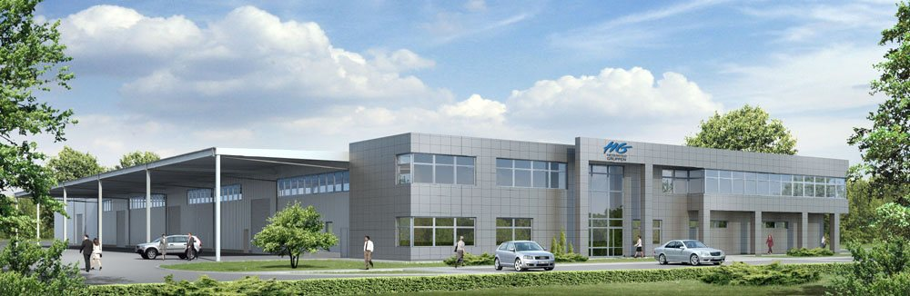 Building of the production hall for Danish company HG Poland Sp.z o.o.