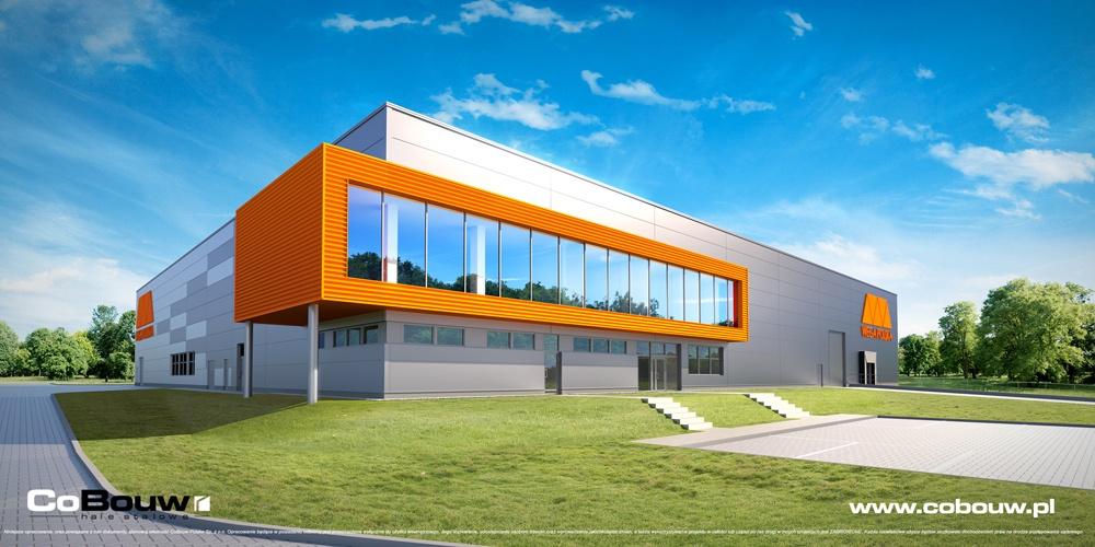 Hall construction design for Italian company Wega Polska Sp. z o.o.
