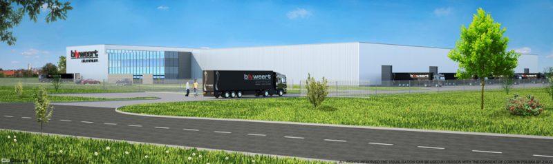 Building for Belgium company BLYWEERT ALUMINIUM sp.zo.o.