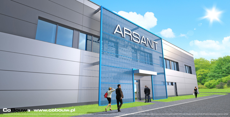 Construction of a warehouse-production hall in Konin for ARSANIT Ltd.