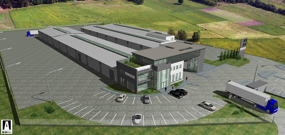 Building for the Polish company EUROCOLOR