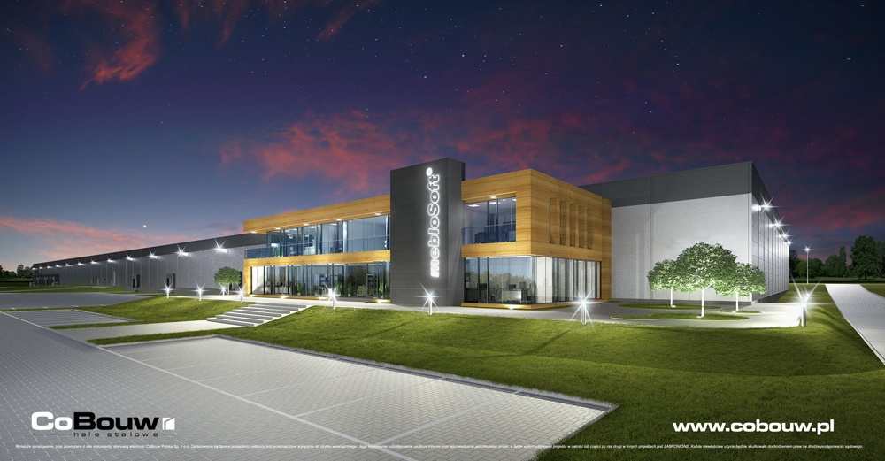 Comprehensive construction of the office building for the company Meblosoft