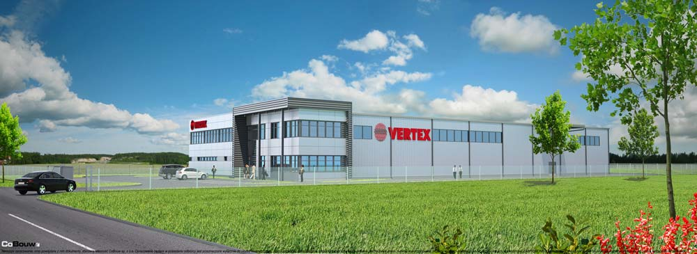 Construction of production hall for VERTEX sp.zo.o.